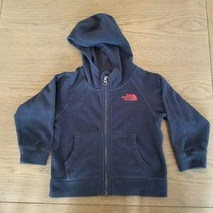 The North Face boys blue fleece zip-up